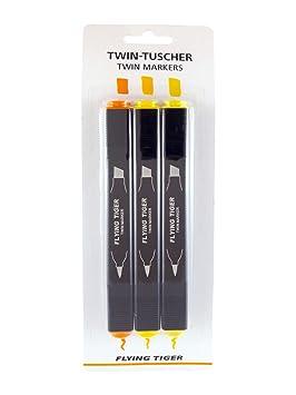 Flying Tigre Twin Tuscher Twin Marcadores 3 Piezas Juego De