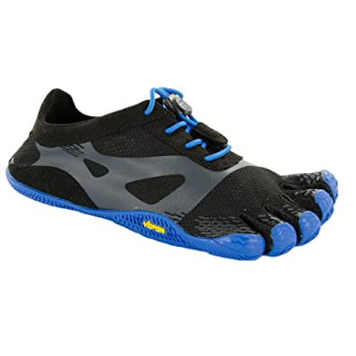 brand new 4fb54 5b61b Vibram FiveFingers Kids Unisex KSO EVO (Little Kid Big Kid) Black Blue
