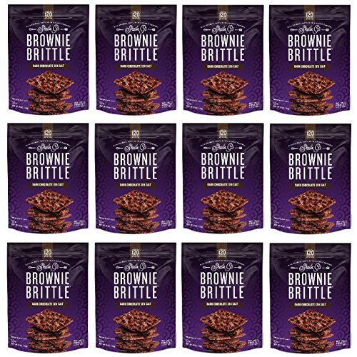 Brownies Salt Sea (Brownie Brittle Dark Chocolate Sea Salt, 5 Ounce, 12 Count)