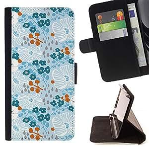 For HTC One A9 Case , Invierno Primavera Flores Wallpaper- la tarjeta de Crédito Slots PU Funda de cuero Monedero caso cubierta de piel