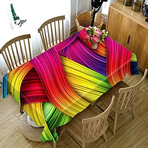 3D Tablecloth Hot Air Balloon Pattern Dustproof Tablecloth Wedding Banquet Decoration Table Cloth Home textile Supplies  Color 5 B07SDLZ4YZ