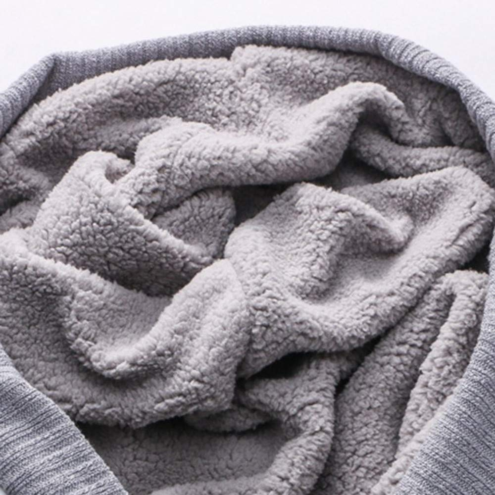 Irregular Print Warm Winter Parka Button Overcoat STORTO Womens Knit Hooded Long Coat