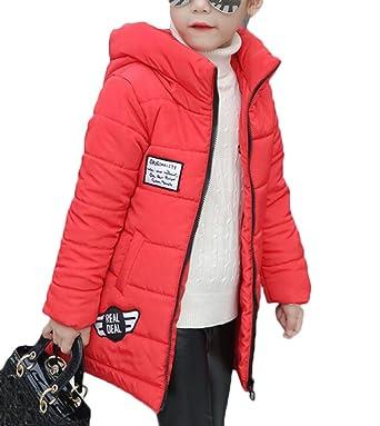 new style e99cb adc0f MILEEO Kinder Mädchen Winterjacke mit Kunstpelz Tailliert Lang Jacket  Wintermantel Mantel Parka Oberbekleidung Winter
