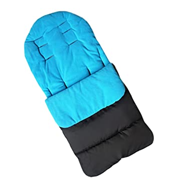 Saco de dormir y funda para pies de bebé de la marca Jiele, cómoda, cálida, resistente contra el viento azul azul