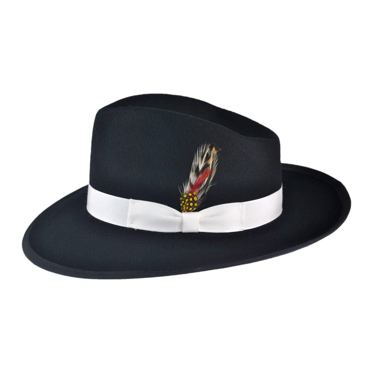8a6c4d7ad Jaxon Made in The USA - Classics Zoot Wool Felt Fedora Hat at Amazon ...