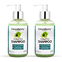Greenberry Organics Daily Mild Shampoo | Every Day Scalp Cleansing & Nourishment Pack of 2 (200 ML x 2)