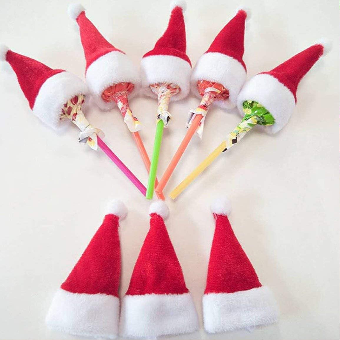 Fantasyworld Adornos de Navidad Mini Sombrero de Navidad Sombrero ...