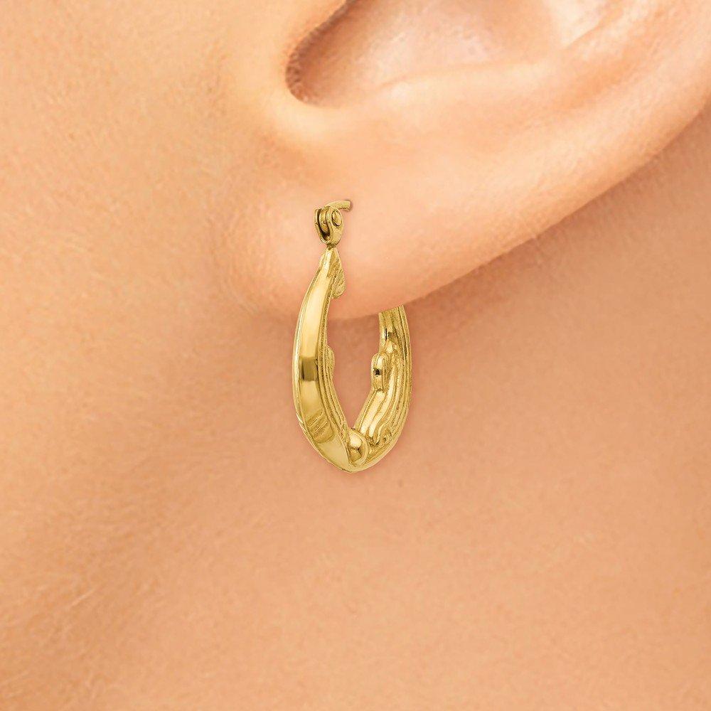 14kt Yellow Gold Dolphin Hoop Earrings