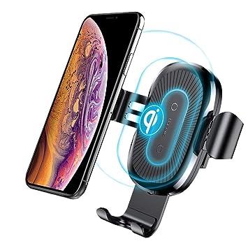 Cargador Inalambrico Coche, Baseus 10W Qi Cargador Inalambrico Movil Coche con Soporte de Teléfono para Samsung Galaxy Note 8/S8/S7/S6 Edge +/Note 5, ...