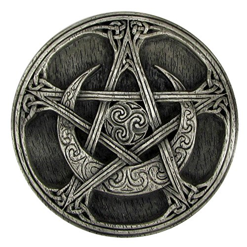 (Pewter Moon Pentacle Altar Tile)