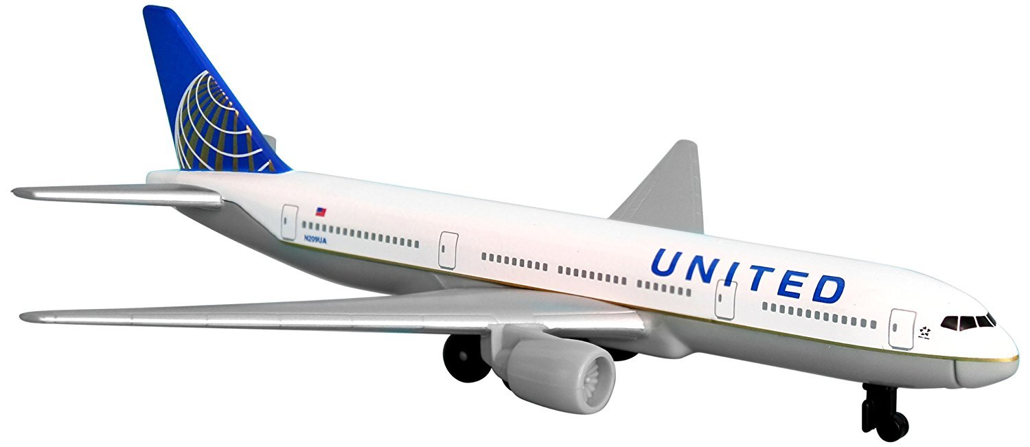 newest 7e93d ac34b Amazon.com  United Airlines 777 airplane toy plane, RT6266  Toys   Games