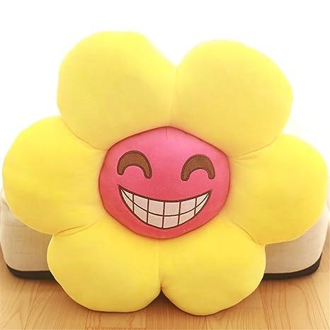 Creative sol flor Emoji cojín almohada Emoji Emoticono ...