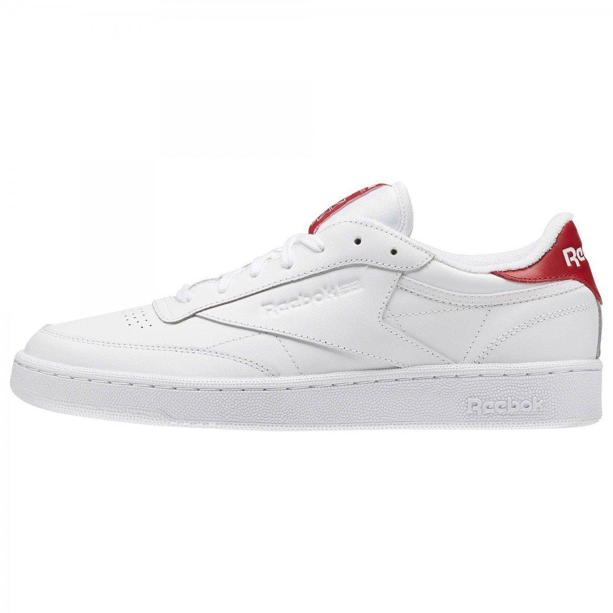 Reebok Herren Schuhe / Sneaker Club C 85 EL  45 EU White/Exclnt Red