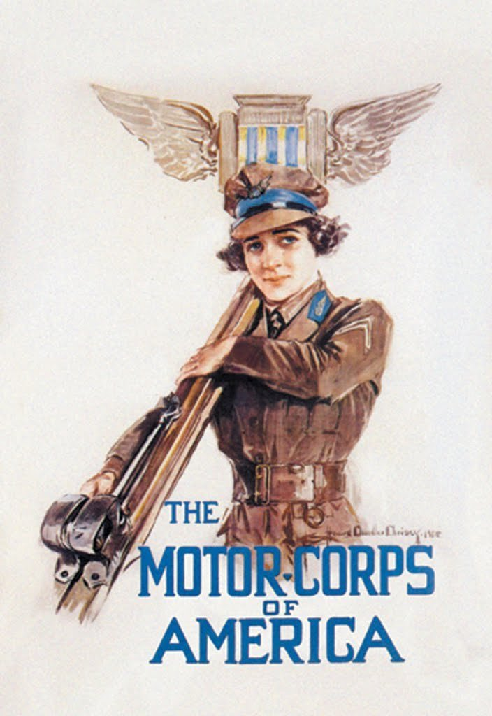 Buyenlarge The Motor-Corps of America by Howard Chandler Christy Wall Decal, 48'' H x 32'' W by Buyenlarge