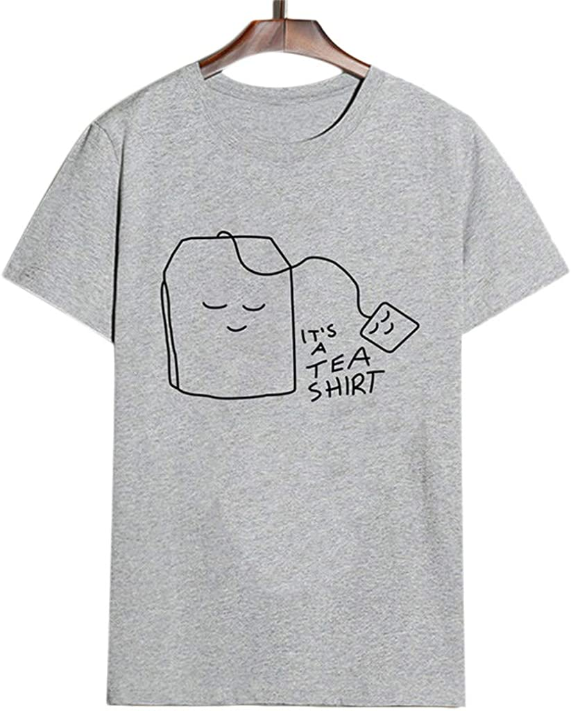 YIHANK Womens Short Sleeve Cotton Shirts Cute Junior Graphic Tee Top