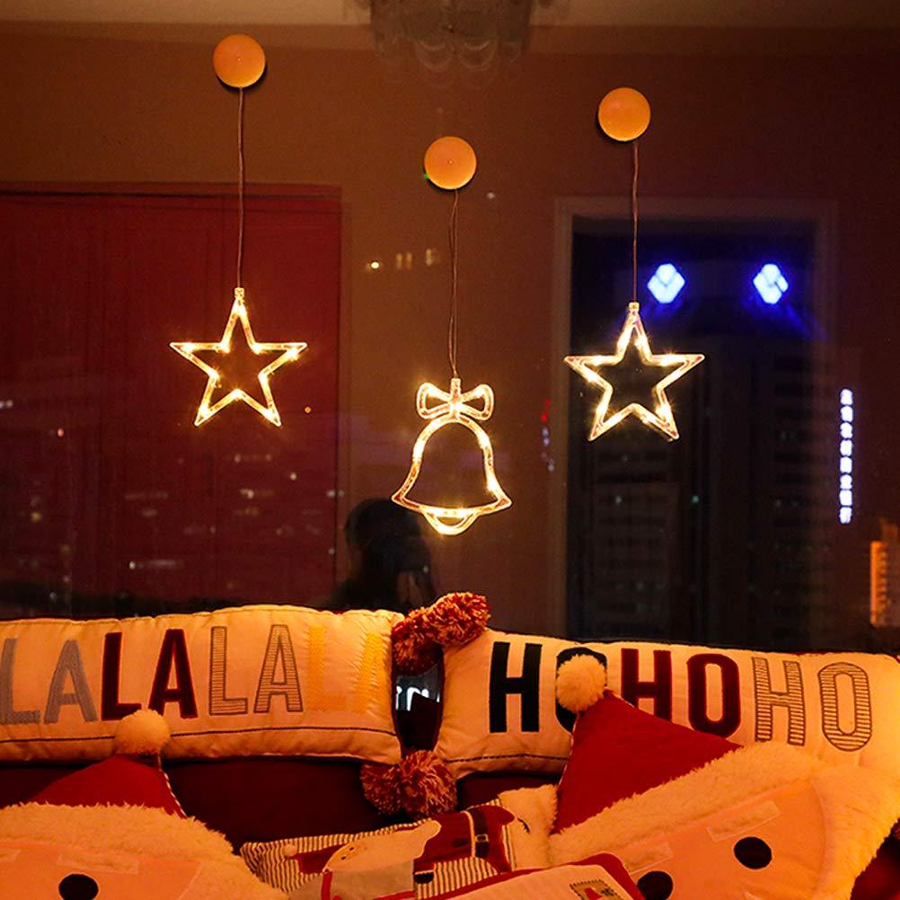 Ventouse Fen/être No/ël Lumi/ère Ventouse No/ël Ange Vento HEITIGN LED Lumi/ères De No/ël Suspendus Lumi/ère LED Rideau Suspendus Lumi/ère pour Fen/être De La Chambre D/écor De No/ël Lumi/ère