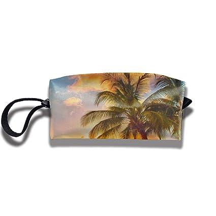 589dcd5d105c Amazon.com: FRTSFLEE Pencil Bag Makeup Bag Tropical Palm Tree Ocean ...