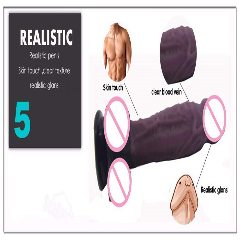 lcc Simulación Pene Adulto Adulto Pene Sexo G Punto Masaje Masturbación Vaginal Empuje Clímax Barra De Masaje, Tamaño: 18.5 Cm * 3.8 Cm (Embalaje Privado),Marrón fd98e3