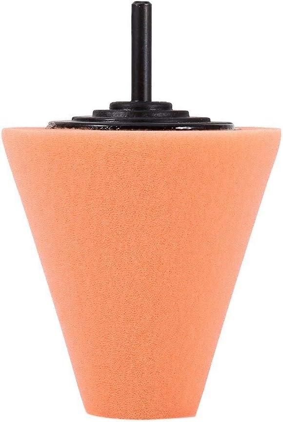 Rockyin 1PCS espuma de pulido en forma de cono pulidoras de rat/ón for ruedas Uso con el taladro de potencia