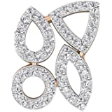 0.53CT Pave Set Certified Diamond Cluster Cocktail Earring, Antique Geometric Shaped Party Wear Wedding Bridal Earring…