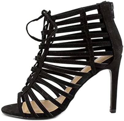 Black Size 10.0 Material Girl Womens Blaire4 Fabric Open Toe Special Occasion