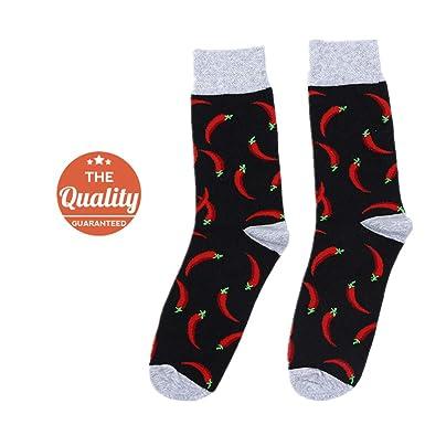 DOTBUY Medias Novedad Calcetines, comida Hombres Mujer Unisexo Elástico Deportes Socks (chile)