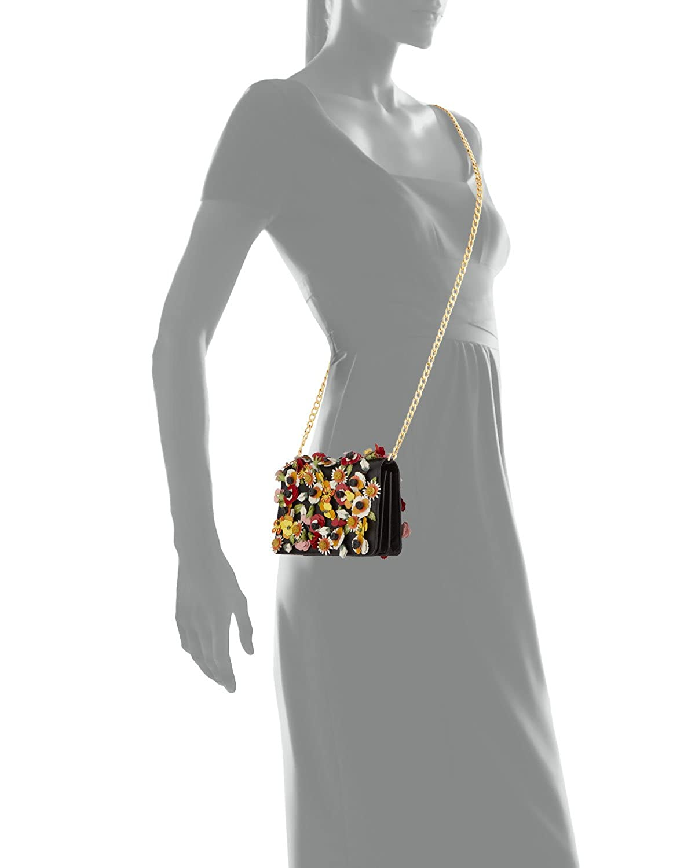 dbe21a3ec0f2 Amazon.com: Prada Saffiano Garden Floral Applique Misto Designer Crossbody  Bag for Women 1BP006: Clothing