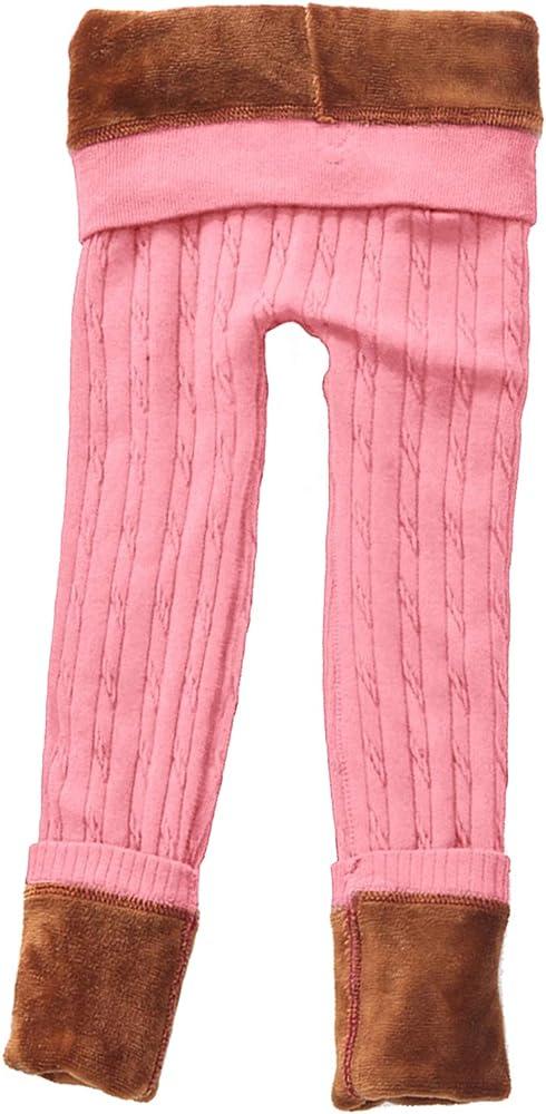 DCOIKO Velvet Elastic Trouser Warm Thick Black Leggings Winter Pants for Girls and Children