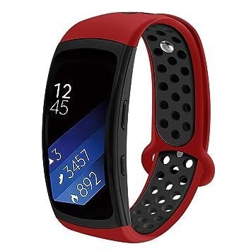 Ruentech - Correa de Silicona para Samsung Gear Fit 2 SM ...