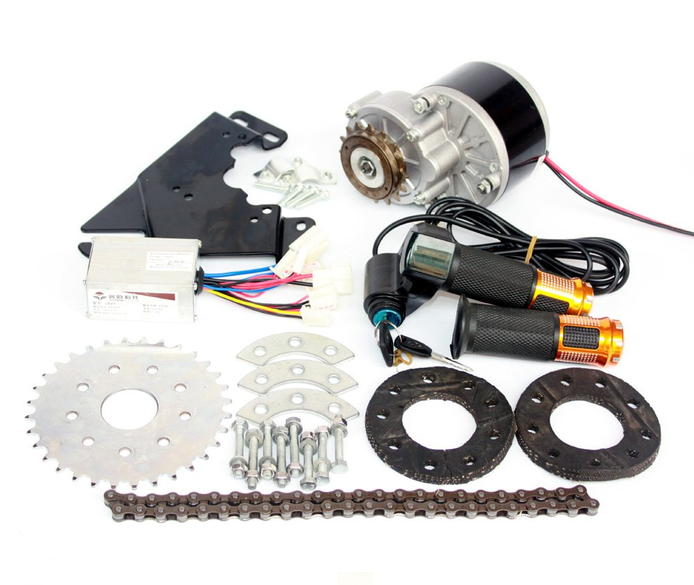 L-faster 250W Electric Conversion Kit for Common Bike Left Chain Drive Customized for Electric Geared Bicycle Derailleur(Twist Kit) by L-faster