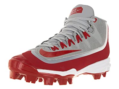 new arrival 52ee8 37fff Nike Men s Huarache 2KFilth Pro Baseball Cleat Wolf Grey White University  Red Size 14