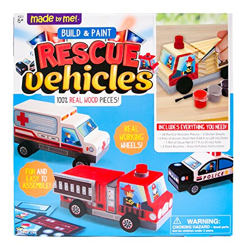 Made By Me Rescue Vehicles by Horizon Group (Glue Gift)
