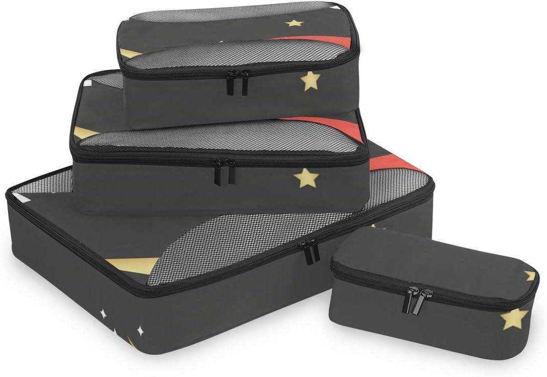 4 Set Packing Cubes Travel Luggage Packing Organizers Be Fabulous Unicorn