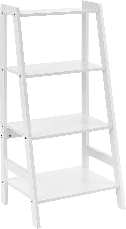 en.casa] Estantería Escalera - 90x43x32cm - Blanca - con 4 ...