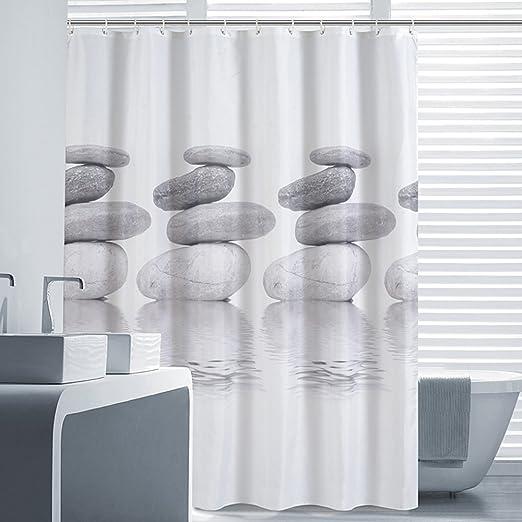 Amazon.com: Riverbyland Shower Curtains Grey Stone 72