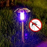 New & Two Mode Used Solar LED Outdoor Mosquito Killer LampGarden Lawn Lamp Stake in The Ground- Cordless Garden Lighits