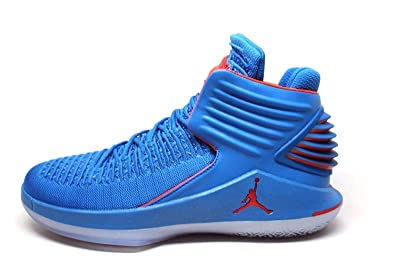 low priced ceb24 6e94c Jordan Men s Retro XXXII Russ Signal Blue Team Orange-MTLC Silver (11 D