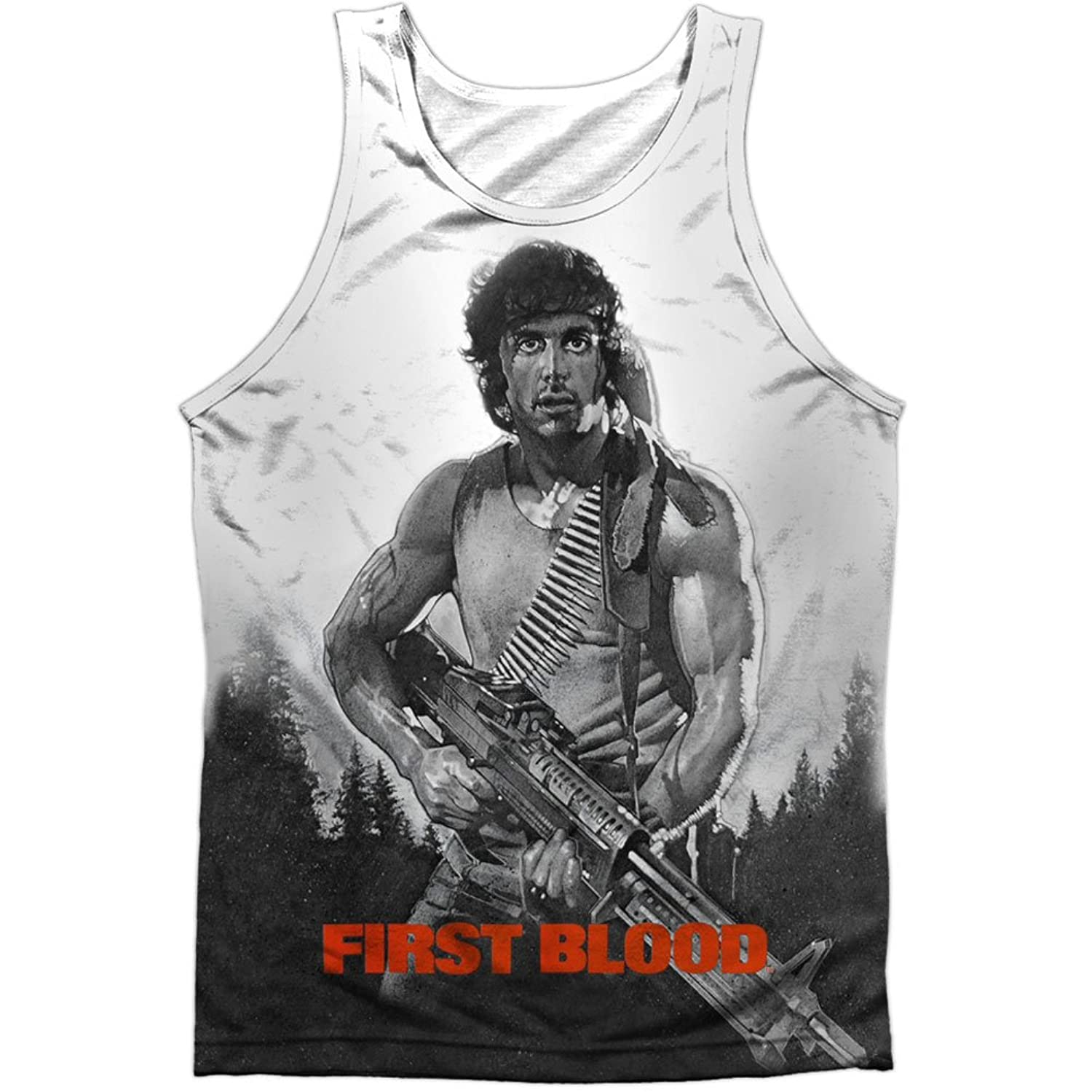 Rambo: First Blood Action Film Theatrical Poster Front Print Tank Top Shirt