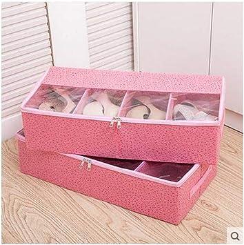 HENGXIANG 2 Paquete de Zapatos Transparente Caja, Plegable Armario ...