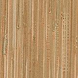 Kenxb|#Kenneth James 2622-30274 Tereza Coral Foil Grasscloth Wallpaper,