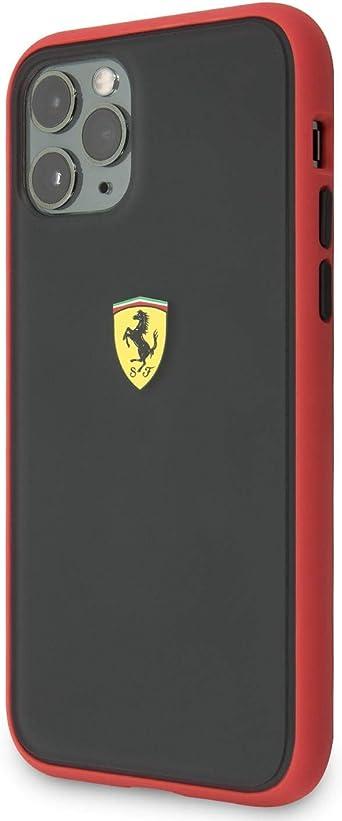 Ferrari con licencia oficial Funda de fibra de carbono para iPhone 11 Pro Max negro absorci/ón de golpes carcasa r/ígida de carbono negro con protecci/ón contra ca/ídas