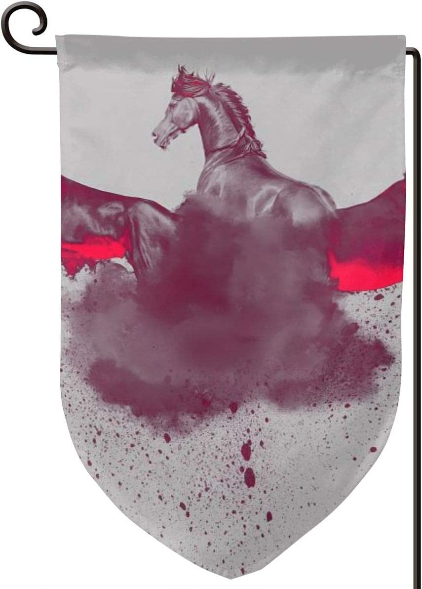 """Laur Decorative Garden Flag, Horse Paint Artwork Decor Summer Seasonal Flags Vertical Double Sided for Yard Outdoor Home Spring 12.5"""" x 18"""" inch Fillet"""