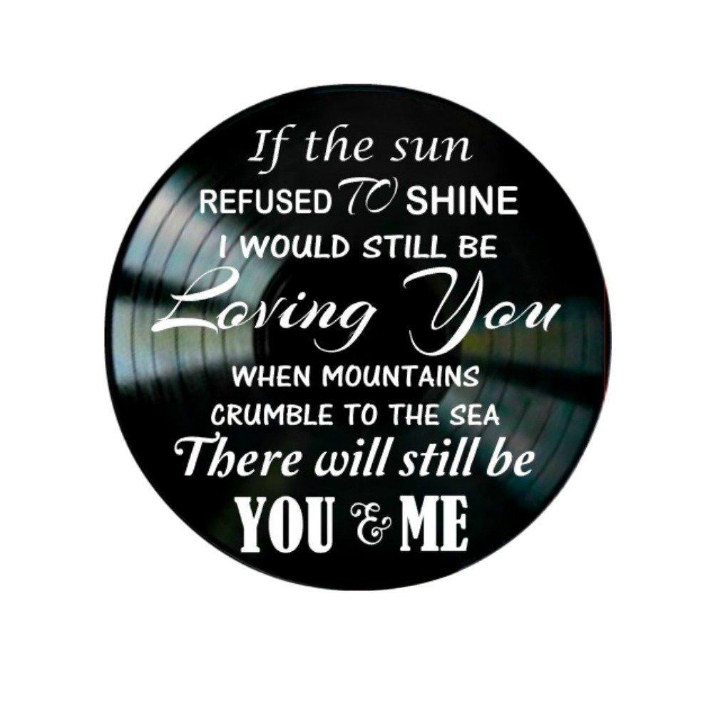 Led Zeppelin Thank You song lyrics on a Vinyl Record Album Wall Art Decor