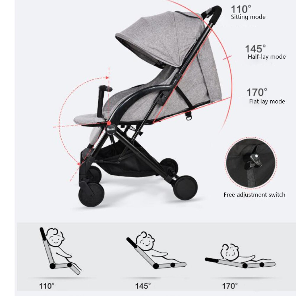 Amazon.com: QXMEI Baby Stroller Ultra-Light Portable Folding Baby Cart Summer Breathable Net Umbrella Car,H: Home & Kitchen