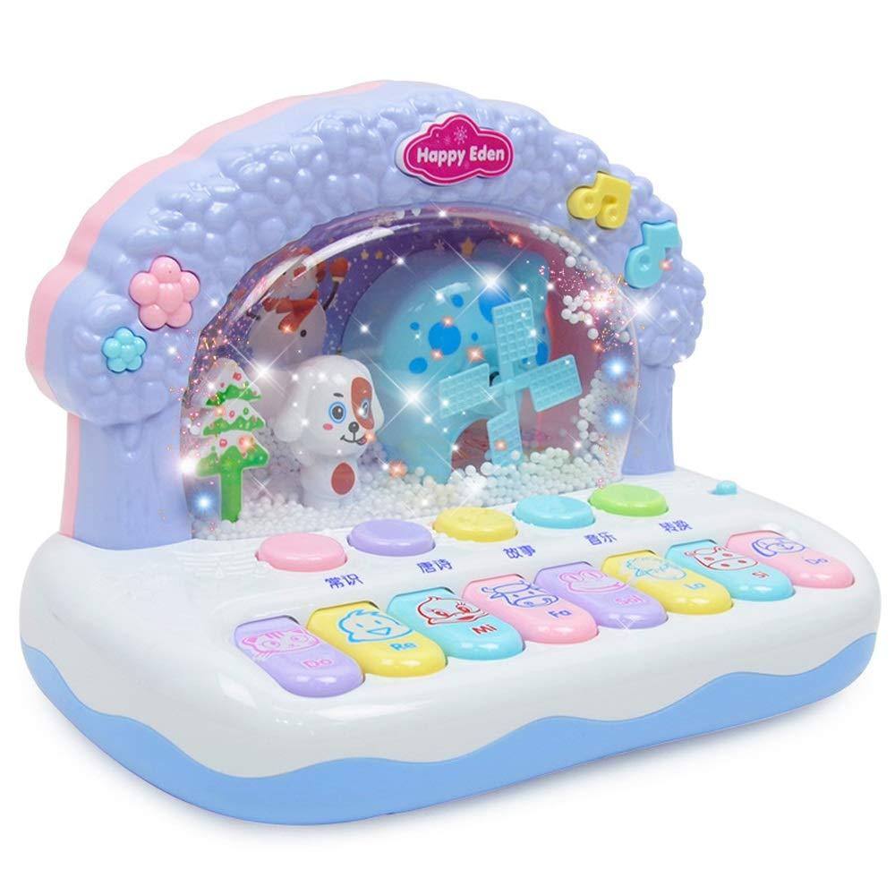 LIPENG-TOY Música, Piano, Niñez temprana, Diversión, Música, Teclado electrónico, Piano electrónico multifunción, Juguetes educativos (Color : Azul)