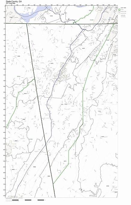 Zip Code Map Dade County.Amazon Com Dade County Georgia Ga Zip Code Map Not Laminated Home