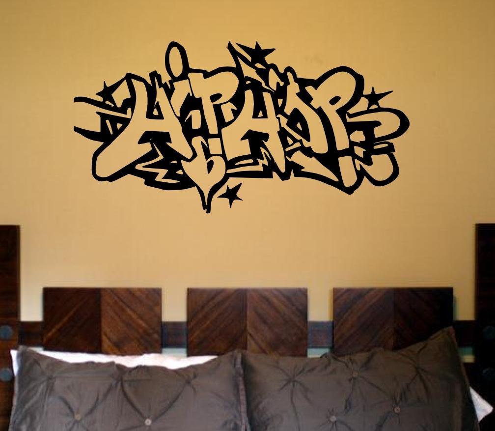 amazon com wall rap hip hop art large mural decal sticker gangsta amazon com wall rap hip hop art large mural decal sticker gangsta poster in vinyl home kitchen