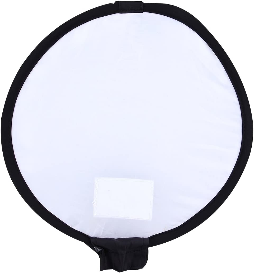 Black + White Without Flash Light Holder HUANGMENG Softbox 30cm Universal Round Style Flash Folding Soft Box HUANGMENG