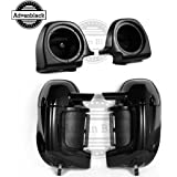 US STOCK! Vivid/Glossy Black Lower Vented Fairings Kit 6.5 Inch Speaker Pods Fit