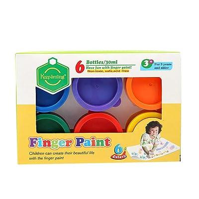 Children's DIY Finger Paint Graffiti Pigment - 6 Colors Finger Paint for Toddlers, Non Toxic Kids Finger Paint Set, Washable Finger Paints for Toddlers Non Toxic, 6 x 30ml (1.02 fl. oz) (Multi) : Garden & Outdoor